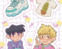 MP100 sticker sheet