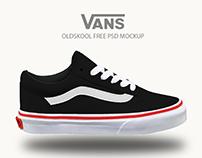 VANS™ oldskool FREE PSD MOCKUP