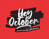 Hey October Font Free for commercial use
