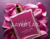 LIFE IS PINK! Compo parfum made with 3 PNG layers.