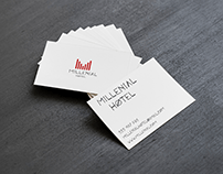Hotel logo and business card design