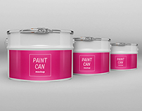 Paint Cans and Canisters Packaging Mock-Ups