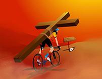 cyclist jesus
