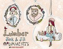 Lumber Jack & Jill Ornaments