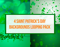 4 Saint Patrick's Day Backgrounds Looping Pack