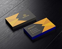 Free PSD Corporate Business Card Green