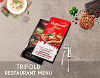 Restaurant Menu Trifold