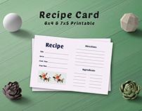 Free Simple Bouquet Recipe Card Template