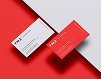 Free Modern Brand Business Card Mockup