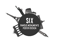 Six FamousMonuments Poster DESIGN