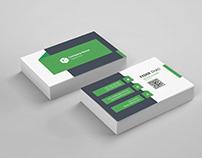 Black green business card