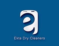 Ekta Dry Cleaners logo