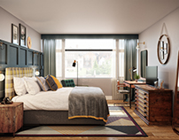 Bespoke Bedroom CGI developed by Our Studio