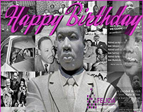 Happy Birthday design of Dr. Martin Luther King, Jr.