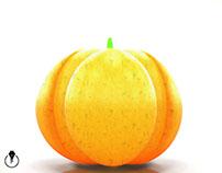 Pumpkin created in Adobe Project Felix