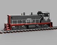 OpenRailway EMD SW1500 1:32 Locomotive