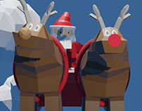A low poly Christmas