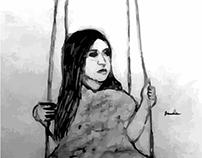 Creative portrait sketch