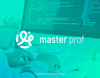 MasterProf - Logo for IT-company