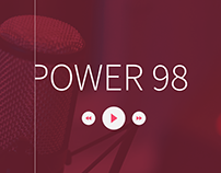 Power 98 Radio - Web Design ( UI / UX )