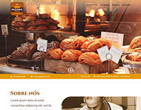 Layout Site Landing Page - Bakery