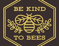 Be Kind to Bees t-shirt design