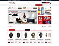 E commerce website design for www.myklickshop.com