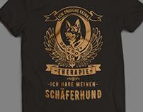 For German Shepherd Lovers - T- shirt Design
