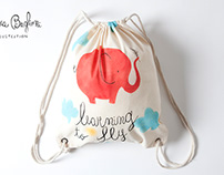 LEARNING TO FLY, hand painted backpack ON SALE