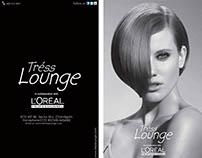 Menu brochure for #Tress Lounge