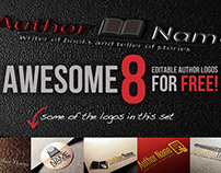 Free Editable Author Logo Collection - Awesome 8