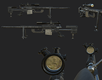 3d Weapon assets with animations