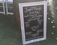 Jenn & Kevin's Chalkboard Wedding Signs