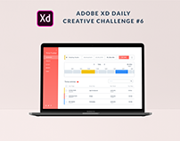XD Daily Creative Challenge #6 Time Tracker App