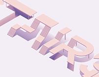 Typographie Isométrique (Stairs)