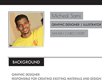 Resume | Graphic Designer |Michael Sami