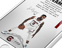 Basketball recruiting quote graphics