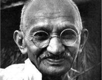 Gandhi Quote Typography Poster