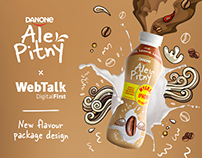 DANONE Ale Pitny - new flavour package design
