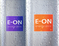 E-ON energy drink. Branding and packaging