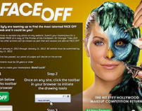 SyFy Face Off Challenge digital campaign components