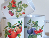 Fruit and flowers ceramic designs