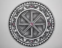 """Pagan symbol """"Kołowrót"""" Tattoo design 6x6 cm"""