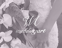 Wedding Art · Identity and website.