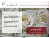 Memorable Delights Web Layout