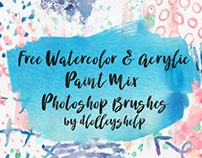 FREE WATERCOLOR & ACRYLIC PAINT PS BRUSHES