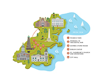 Maps for Ginja the food magazine - 2014