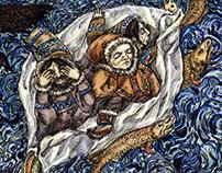 Illustrations for Sami Fairy Tales