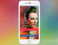 beauty app login screen