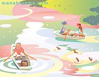 Spring Boat Pond 春のボート池